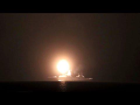 Фрегат «Адмирал Горшков» выполнил испытательную ракетную стрельбу в Белом море