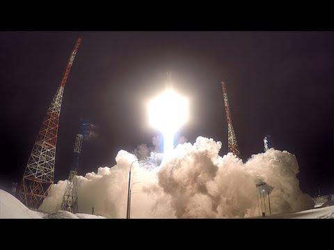 Пуск ракеты «Ангара-А5» с космодрома Плесецк