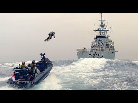 Royal Marines Jet Suit Boarding Ex
