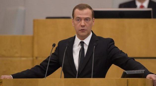 Дмитрий Медведев в ГД РФ
