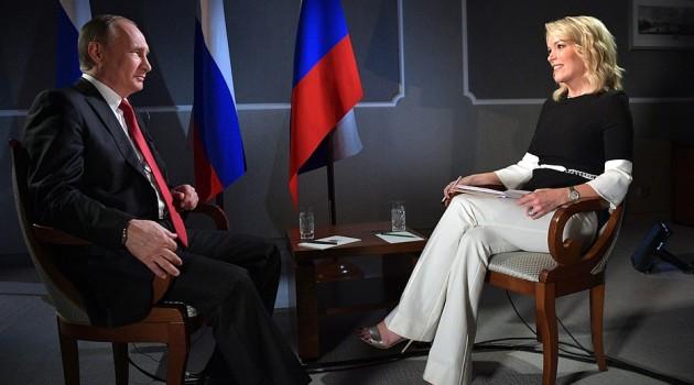Мегин Келли берет интервью у Владимира Путина.