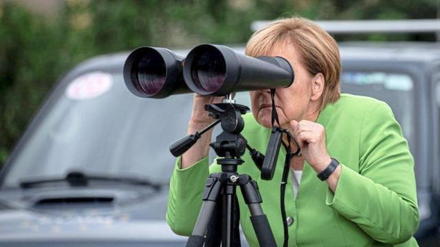 Ангела Меркель на грузино-осетинской границе
