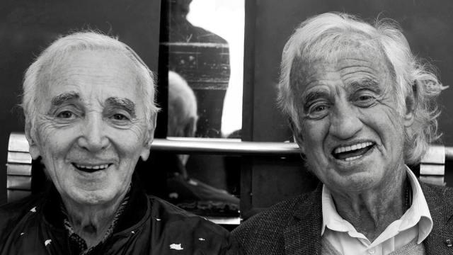 Шарль Азнавур и Жан-Поль Бельмондо