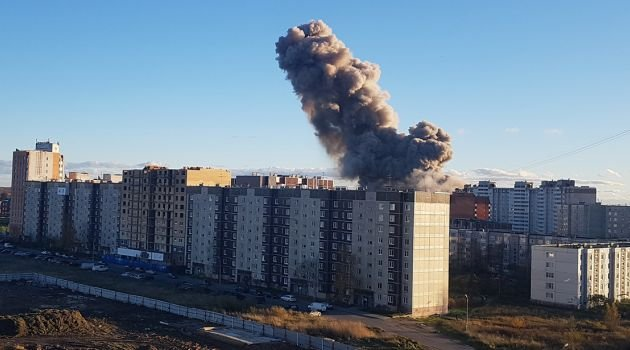 """Взрыв на заводе """"Авангард"""" в Гатчине"""