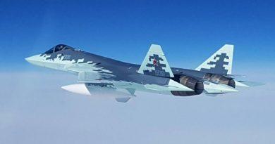 Су-57 испытали в небе над Сирией (видео)