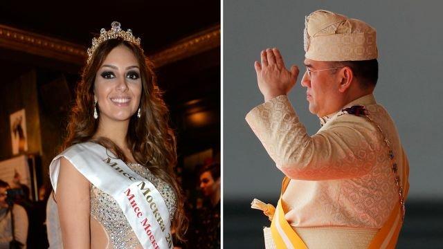 Мисс Москва — 2015 Оксана Воеводина и король Малайзии Мухаммад Пятый