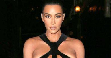 Ким Кардашьян шокировала откровенным платьем (фото)