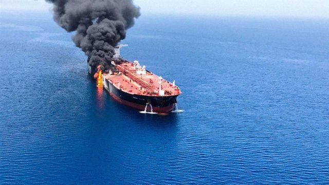 Нападение на нефтяные танкеры в Оманском заливе