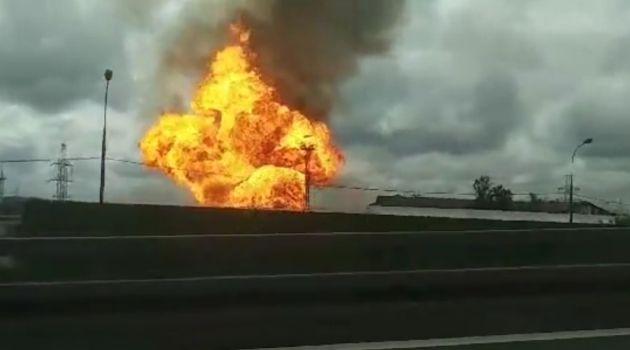 В Мытищах произошел крупный пожар на Северной ТЭЦ (видео)