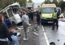 Грузовик врезался в пассажирский автобус в Ярославской области