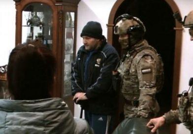 Дом криминального авторитета Кости Канского взяли штурмом (видео)