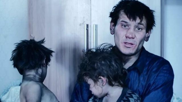 Бездомный с четырьмя детьми