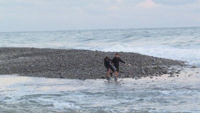 Унесло в море в Сочи