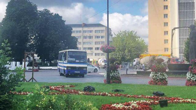 Захват автобуса в Луцке