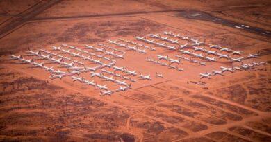 Парковка самолетов в Алис-Спрингс