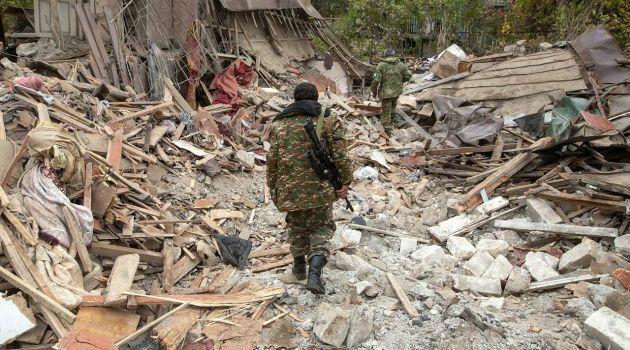Последствия разрушений в Степанакерте