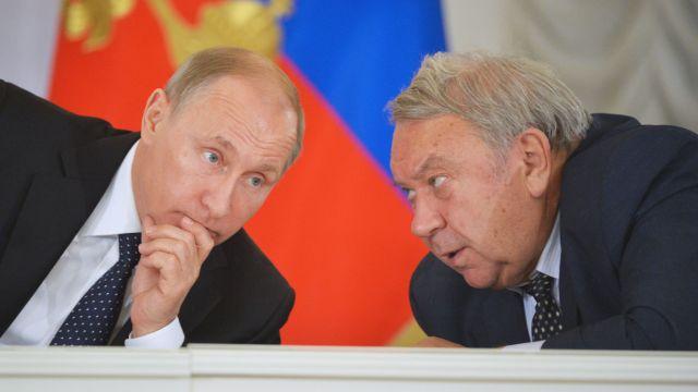 Владимир Путин и Владимир Фортов