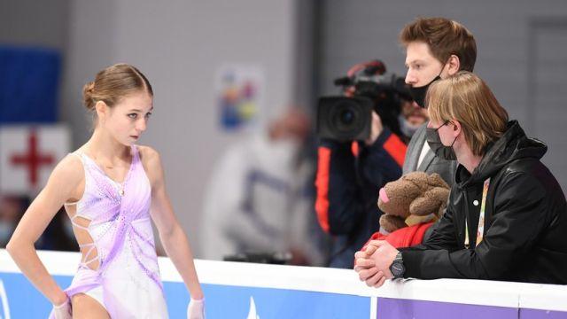 Александра Трусова и Евгений Плющенко
