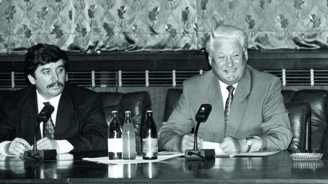 Сергей Шахрай и Борис Ельцин
