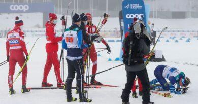 Александр Большунов ударил финского лыжника
