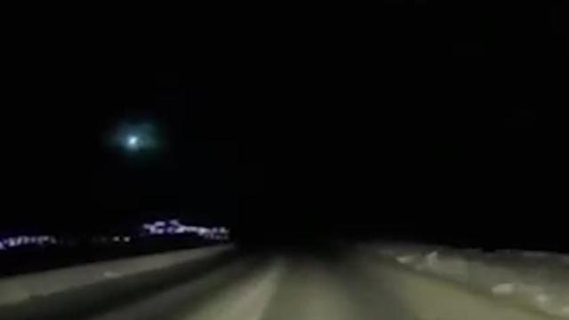 Метеорит взорвался в небе над Камчаткой