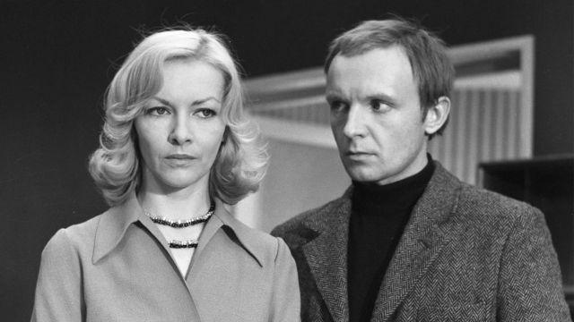 Барбара Брыльска и Андрей Мягков на съемках фильма «Ирония судьбы»