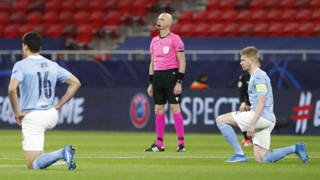 Арбитры из России не преклонили колени перед матчем ЛЧ