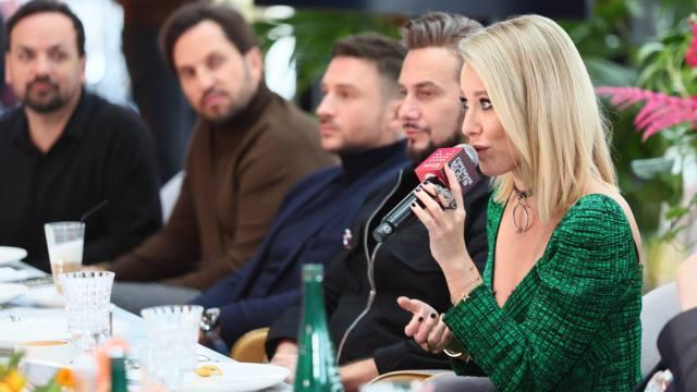 Ксения Собчак, Александр Ревва и Сергей Лазарев