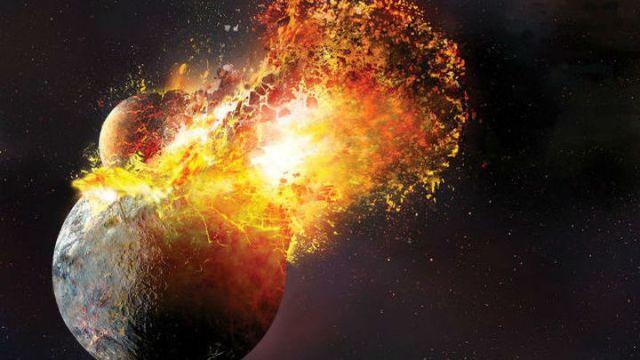 Столкновение Земли с планетой