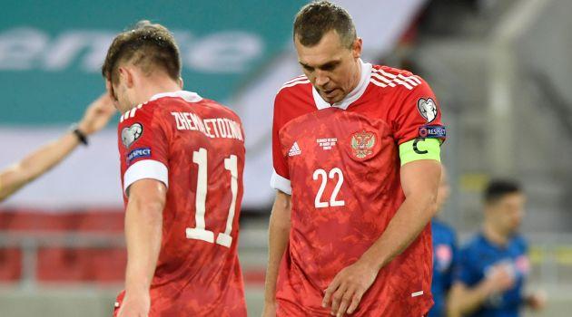 Россия уступила Словакии в матче отборочного раунда ЧМ-2022