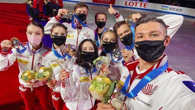 Сборная России выиграла командный ЧМ по фигурному катанию