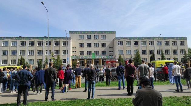 Подростки устроили стрельбу в школе Казани
