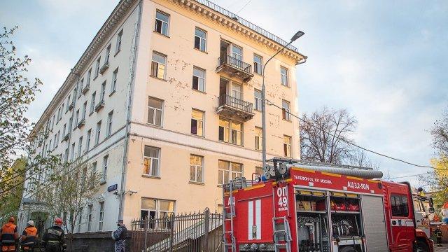 Пожар в московской гостинице «Вечный зов»