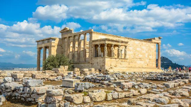 Древнегреческий храм Эрехтейон в Афинах
