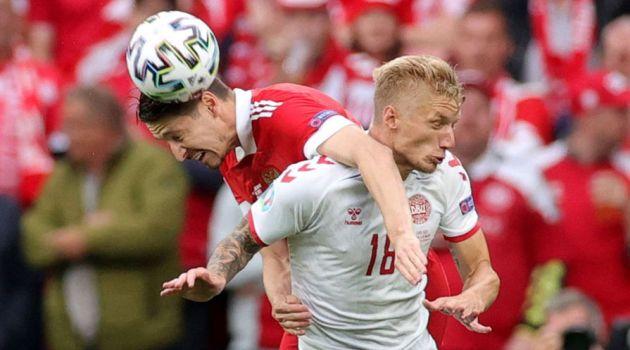 Дания разгромила Россию на Евро-2020