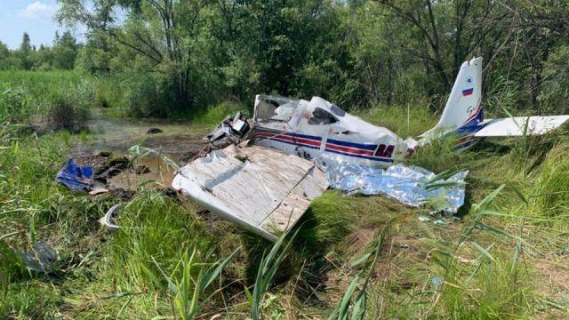 Легкомоторный самолет разбился в Хабаровском крае