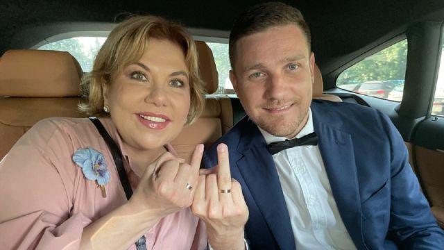 Марина Федункив с супругом Стефано Маджи