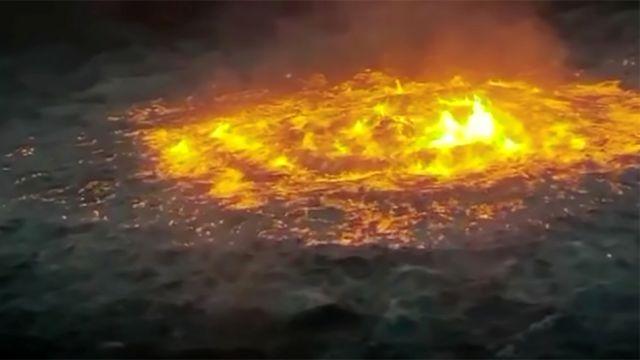 Мощный подводный пожар вспыхнул в Мексиканском заливе