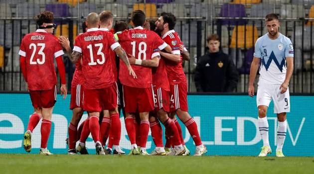 Россия одержала победу над Словенией в отборочном матче ЧМ-2022