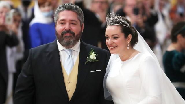 Венчание потомка династии Романовых Георгия Михайловича с Ребеккой Беттарини